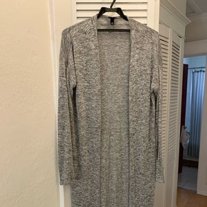 Knitted Grey Duster Long Cardigan